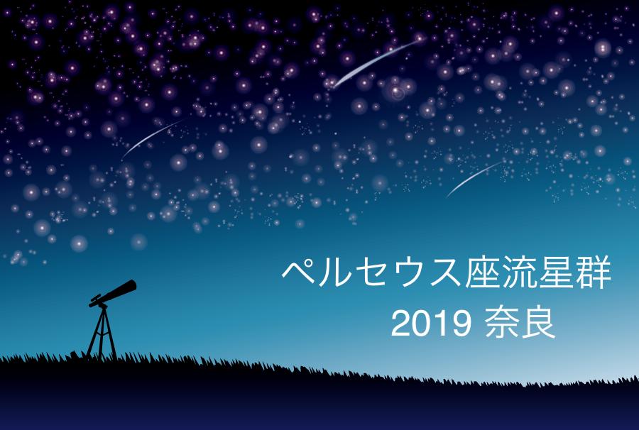 ペルセウス座流星群_2019_奈良