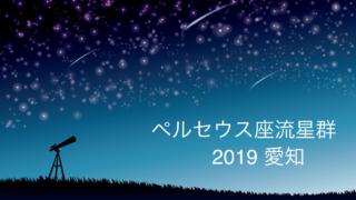 ペルセウス座流星群_2019_愛知