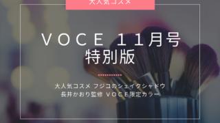 VOCE11月号特別版_フジコシェイクシャドウ限定色